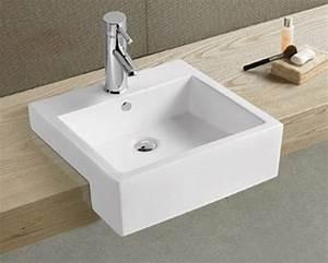vasque semi encastrable carree wwwcashotelfr With salle de bain design avec vasque semi encastrable