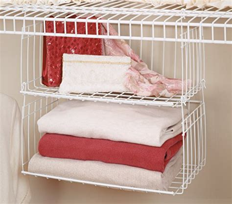 How To Hang Closetmaid Wire Shelving - closetmaid 6222 hanging basket for wire shelving new ebay