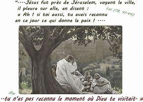 Résultat d'images pour jésus pleure sur jérusalem
