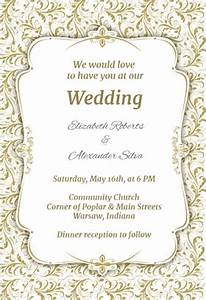 free wedding invitation templates weddingwoowcom With wedding template invitations to print free
