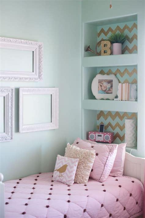 chevron wall stencil girl bedroom designs teenage girl