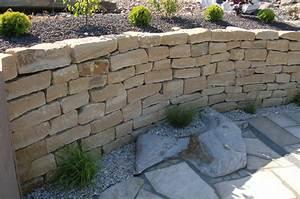 Steine Für Terrasse : garten terrasse au engestaltung mauer trockenmauer ~ Michelbontemps.com Haus und Dekorationen