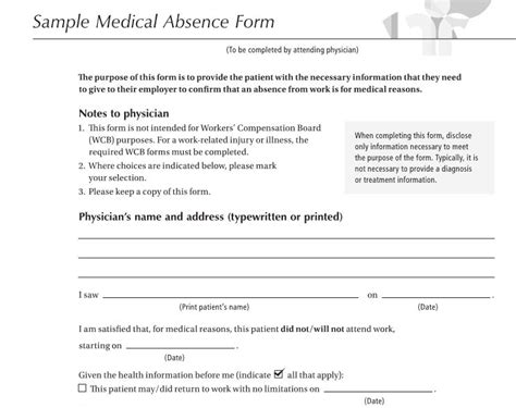 21331 work release form 2 physician authorization return