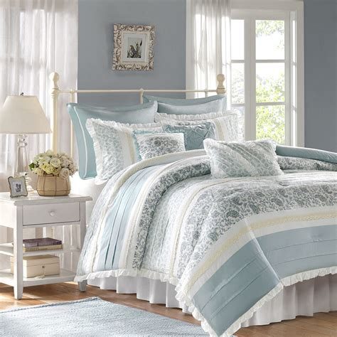 Bedroom Quilt Sets by Chic Blue Lace 9pc Comforter Set Cottage