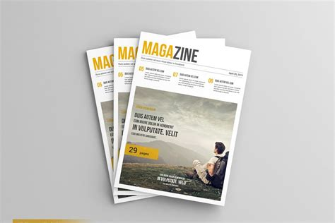 All free mockups include smart objects for easy edit. A4 Magazine / Brochure Mockup