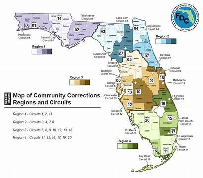 Map Florida Corrections Department County Adult Palm