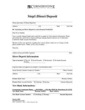 bank letter for direct deposit fillable step 1 direct deposit letter