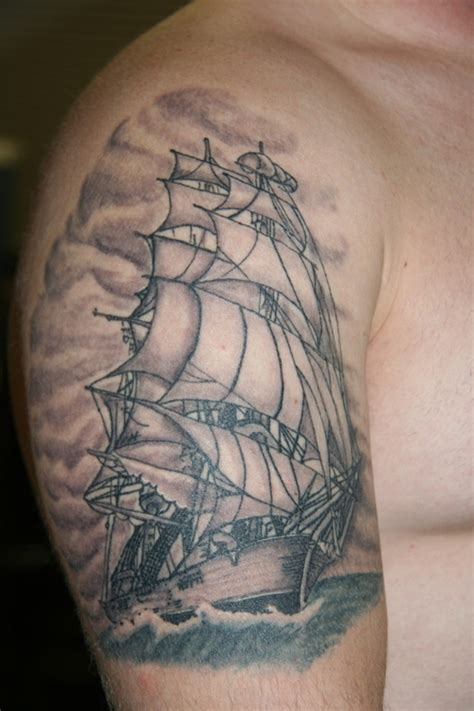 Ship Tattoo by Ship Tattoo Healed Tattoo Picture At Checkoutmyink