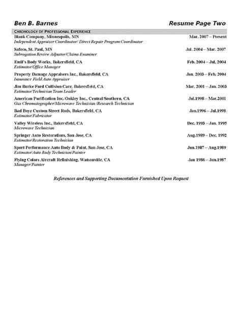 Appraiser Resume Cover Letter by Insurance Appraiser Resume Exle