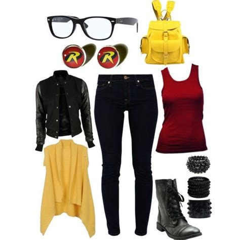 U0026quot;Modern Young Justice Robinu0026quot; by anangelshunter on Polyvore | costume | Pinterest | Halloween ...