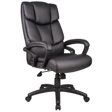 overstuffed executive leather office chair b870x