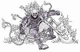 Rider Ghost Coloring Pages Bender Drawings Deviantart Draw Cool Motor Head Popular Mororcycle Login Coloringhome Artworks sketch template