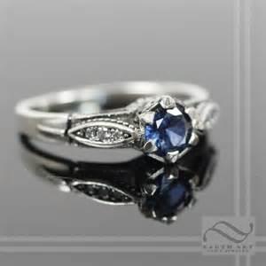 Vintage Style Diamond Engagement Rings Sapphire