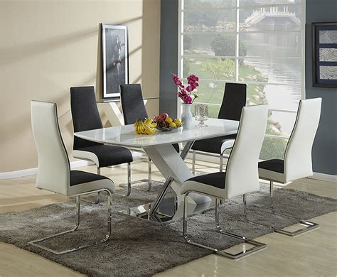 euston white high gloss dining table and chairs