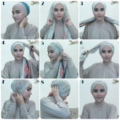 easy peasy hijab tutorial images  pinterest