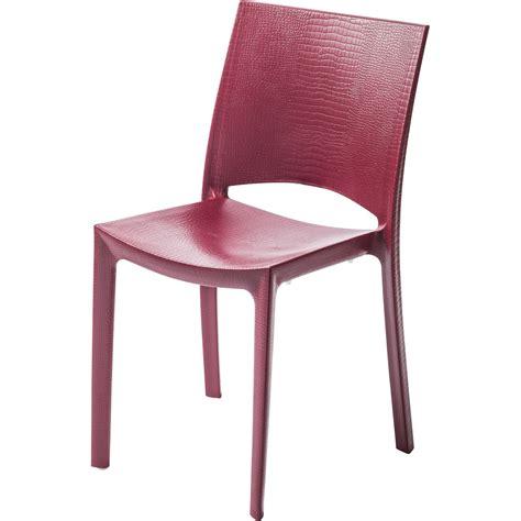 chaises rouges chaise de jardin en résine cocco leroy merlin