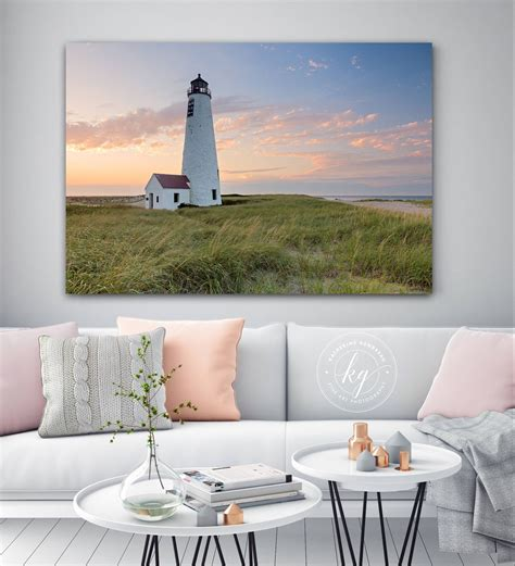 Sailboat wall decor help in the organization of things, they are also key in making your space cozier as well as adding exquisite contrast and pattern. Metal Wall Art, Nantucket Photography, Great Point Lighthouse Photo, Large Metal Print, Large ...