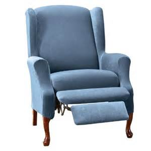 sure fit stretch pique wing recliner slipcover from