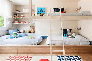 idee deco chambre la chambre enfant partagee With idee deco chambre d enfant