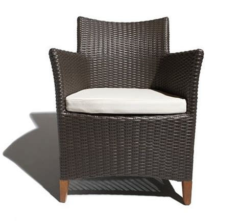 strathwood all weather wicker bistro chair with cushion