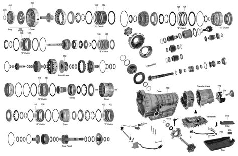 A4ld Transmission Overhaul Diagram by Trans Parts Zf5hp19 Zf5hp19 Transmission Parts