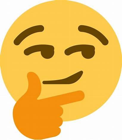 Discord Emoji Transparent Thinking Smirk Background Clip