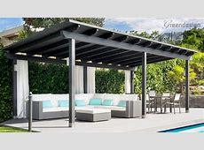 Living Room Modern Pergola Designs Fireplace Home Backyard