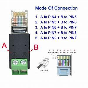 10pcs Free Shipping Rj45 To Screw Terminal Adaptor Rj45 To