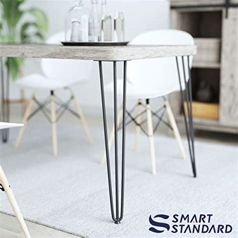 """Apply wood glue between each board and use 1 1/4 brad nails to secure together. SMARTSTANDARD 28"""" Heavy Duty Hairpin Coffee Table (Black) 1/2"""" Thick Set of Four (Legs x 4), 28 ..."""