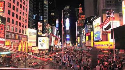Square York Times Gifs Manhattan Nyc Broadway