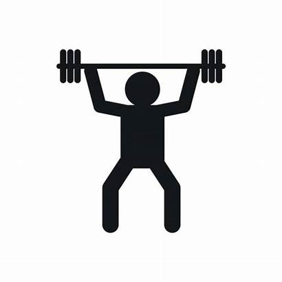 Weightlifting Icon Lifting Clip Weight Simple Vector
