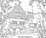 Coloring Pages Garden Drawing Complicated Adults Landscape Flower Para Colouring Adult Printable Sheets Trees Driveway Figuras Pintar Country Plicated Fresh sketch template