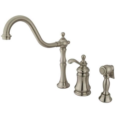 kingston brass faucets quality kingston brass single handle standard kitchen