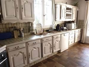 Renovation decoration d39interieur cuisine patine sur meuble for Deco cuisine pour meuble de cuisine