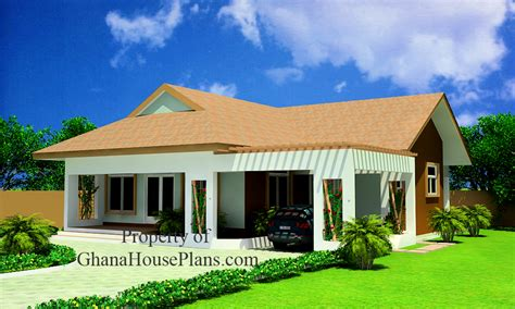 Two Bedrooms House Plan for Ghana, Nigeria, Liberia & All
