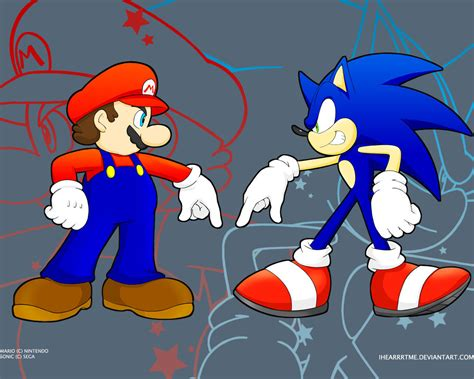 Mario And Sonic By Ihearrrtme On Deviantart