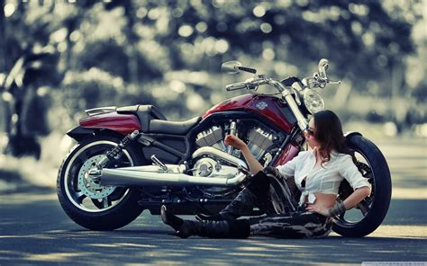 Girl Motorcycle 4k Hd Desktop Wallpaper For 4k Ultra Hd Tv