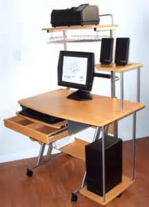 Small Computer Desk with Printer
