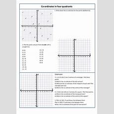 Coordinates In 4 Quadrants By Kittykat102  Teaching Resources