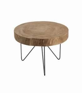 Table Basse D Appoint : table basse d 39 appoint en bois et m tal ~ Teatrodelosmanantiales.com Idées de Décoration