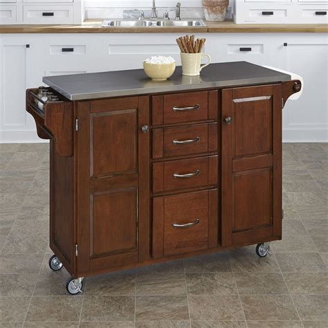 lowes kitchen island shop home styles brown scandinavian kitchen carts at lowes 3878