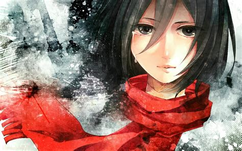 attack  titan mikasa hd wallpaper background image