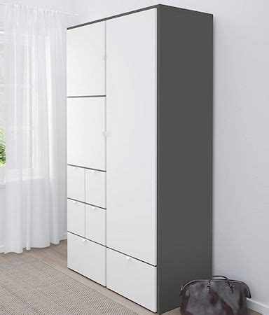 wardrobe visthus greywhite tall cabinet storage