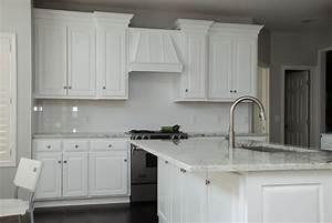 Custom White Transitional Kitchen by Belak Woodworking Lls