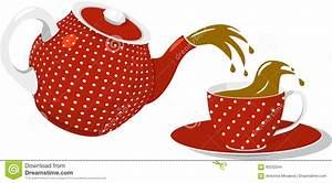 Red spotted teapot and cup stock vector. Illustration of ...