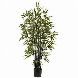 Nearly Natural 4 Ft  Black Bamboo Tree-5417