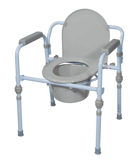 steel commode chair folding