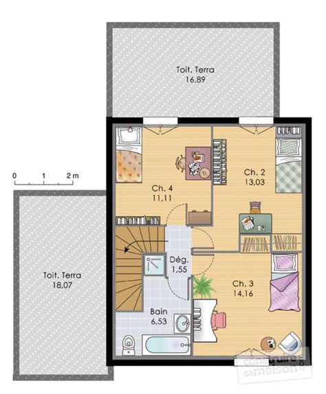 plan maison etage 2 chambres maison à étage 2 dé du plan de maison à étage 2