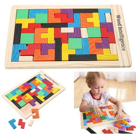 mainan puzzle tetris mainan puzzle tangram tetris multi color