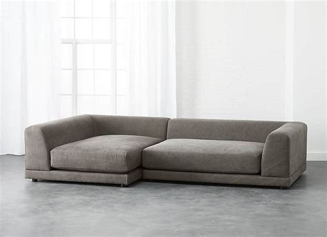sectional sofa vs regular sofa uno 2 piece sectional sofa with a low back decoist